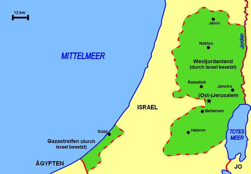 Jordanien Palästina